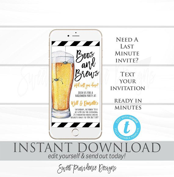 halloween party invitation boos and brews halloween electronic