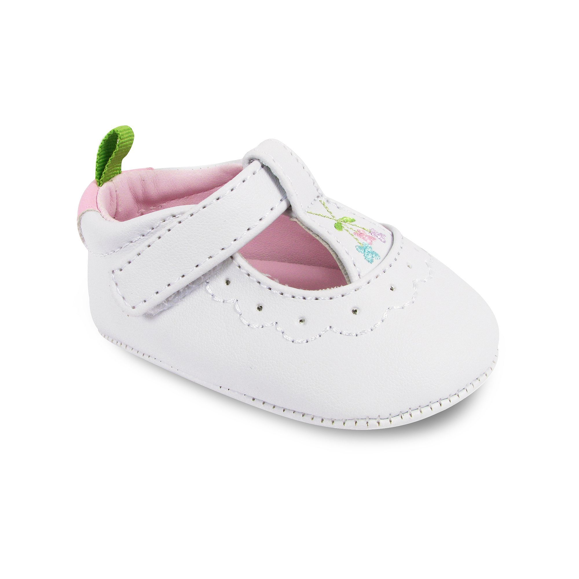 Wee Kids T Strap Crib Shoes Baby Infant Girl s Size 3 White