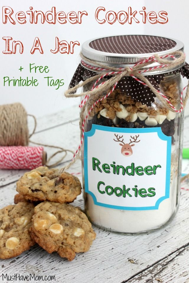 Reindeer Cookies In A Jar Recipe Amp Instructions With