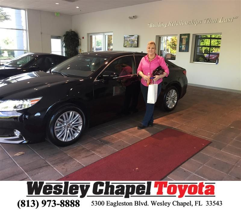Congratulations To Sharon Earley On Your Lexus Es 350 Purchase From Luis Veas At Wesley Chapel Toyota Newcar Wesley Chapel Happy Anniversary Toyota