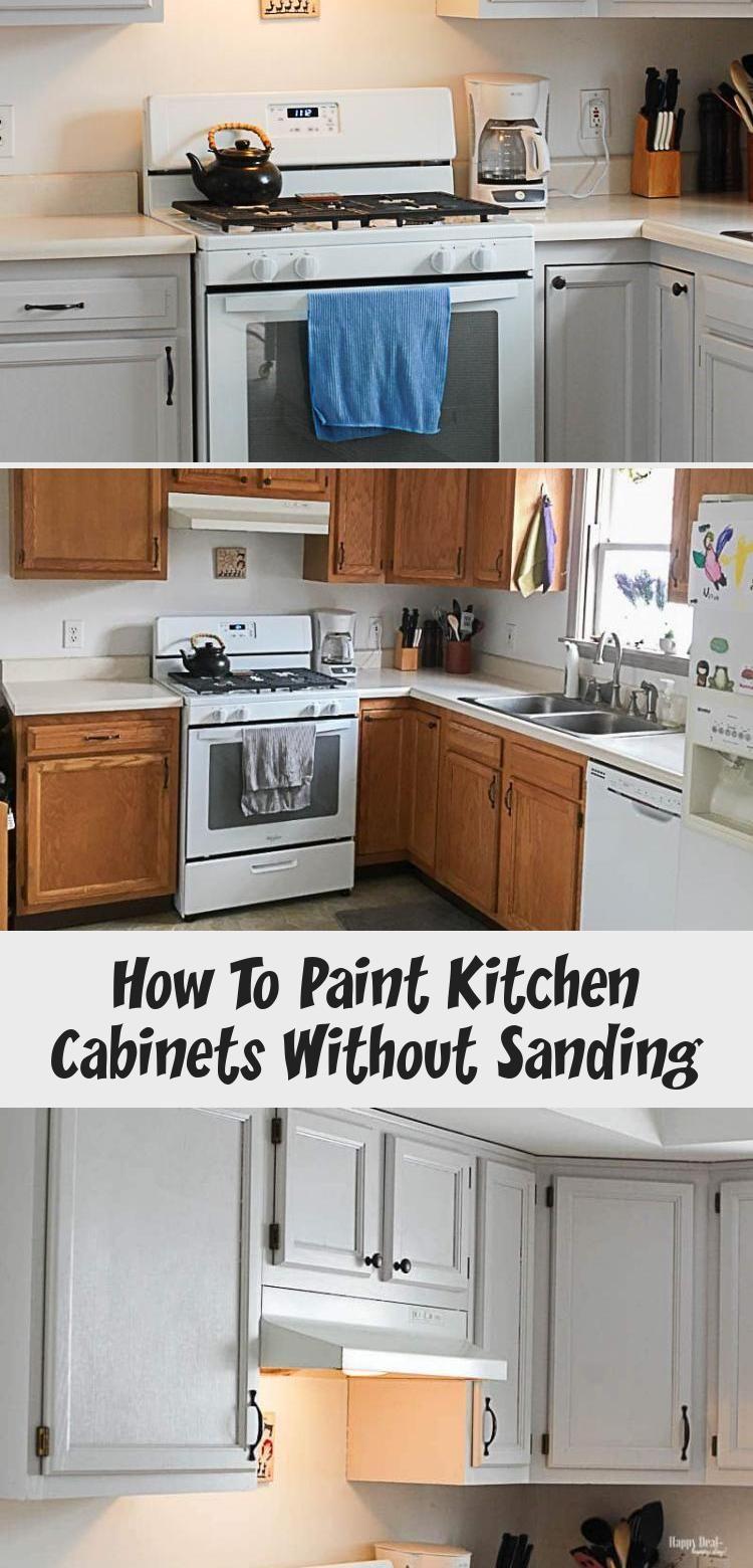 How to paint kitchen cabinets - no sanding required! #kitchencabinets #kitchencabinetideas #kitchencabinetsmakeover #HomeDecorDIYVideosOnABudget #HomeDecorDIYVideosApartment #HomeDecorDIYVideosIdeas #HomeDecorDIYVideosBedroom #HomeDecorDIYVideosCheap