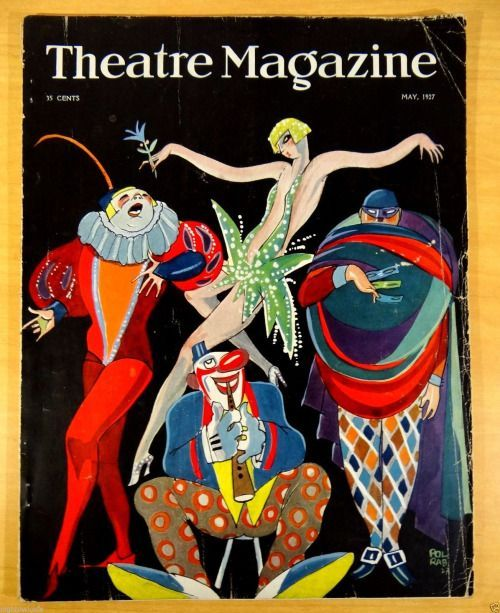 Theatre Magazine, May 1927 (Cover artwork by Pol Rab)