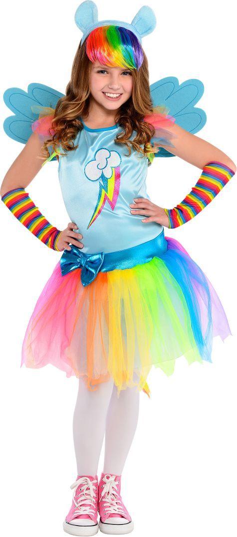 8e3f5935b Girls Rainbow Dash Costume - My Little Pony - Party City