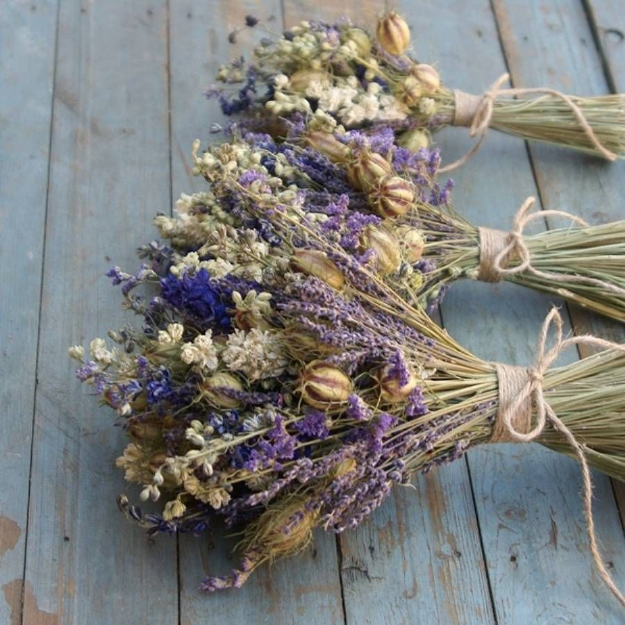 Provence Dried Flower Wedding Bouquet | Provence, Flower bouquets ...