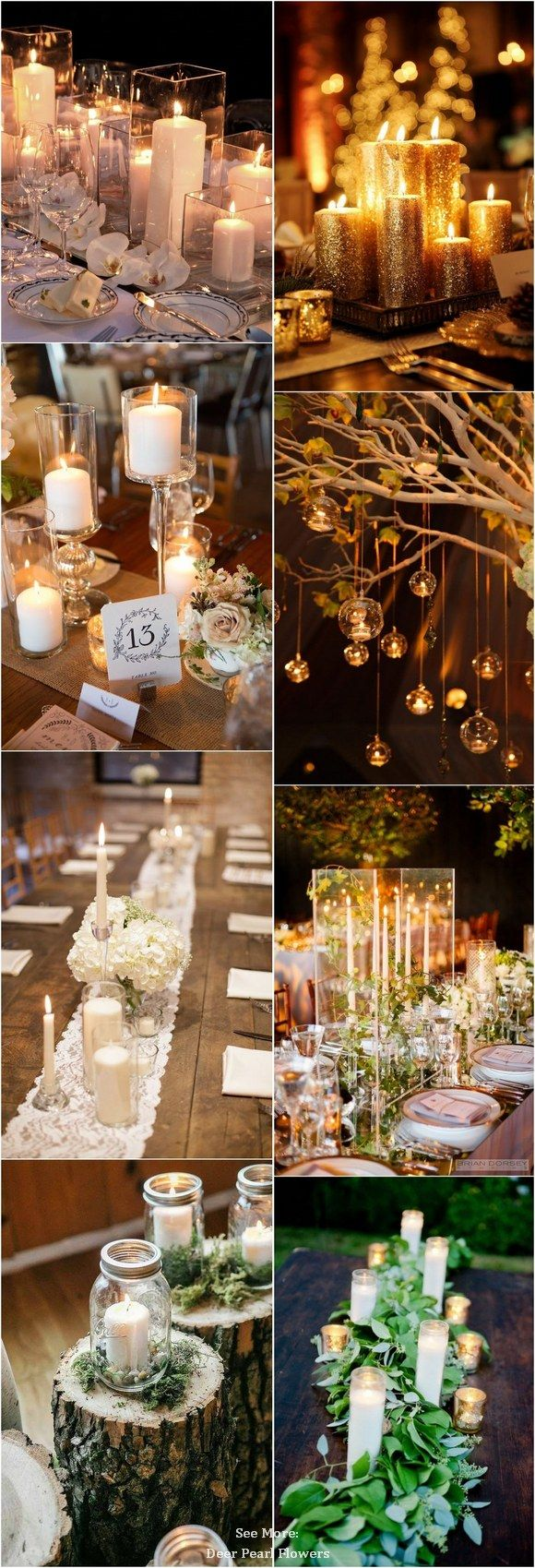 40 Chic Romantic Wedding Ideas Using Candles Romantic weddings - halloween wedding decoration ideas