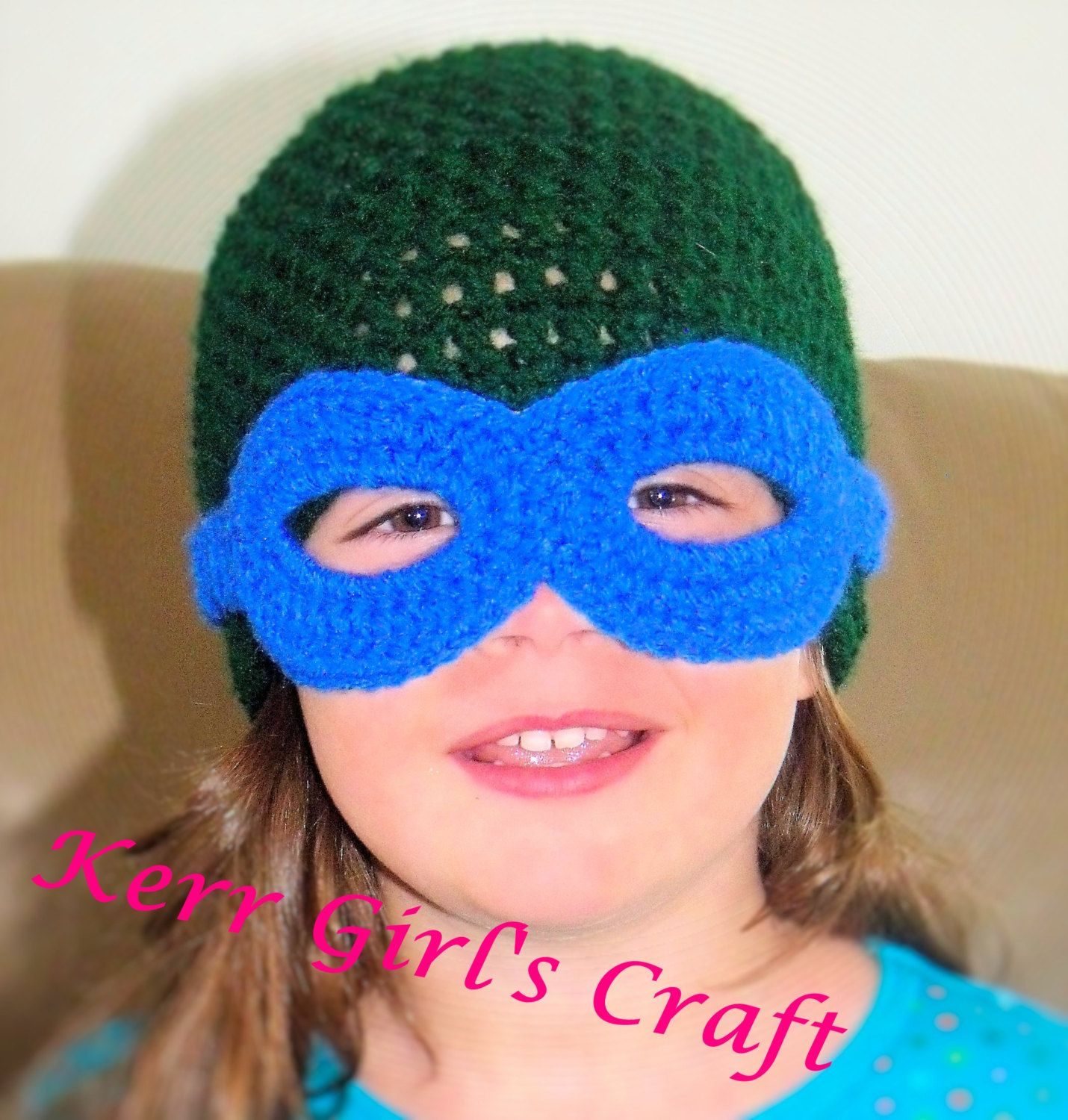 Teenage Mutant Ninja Turtles hat & mask set by KerrGirlsCraft ...