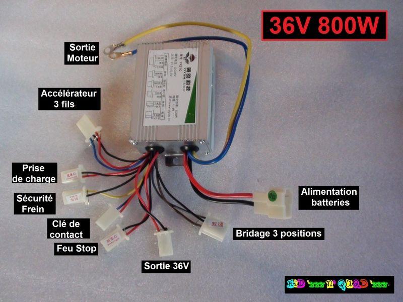 Variateur - Controleur 36V 800W quad moto trottinette électriques