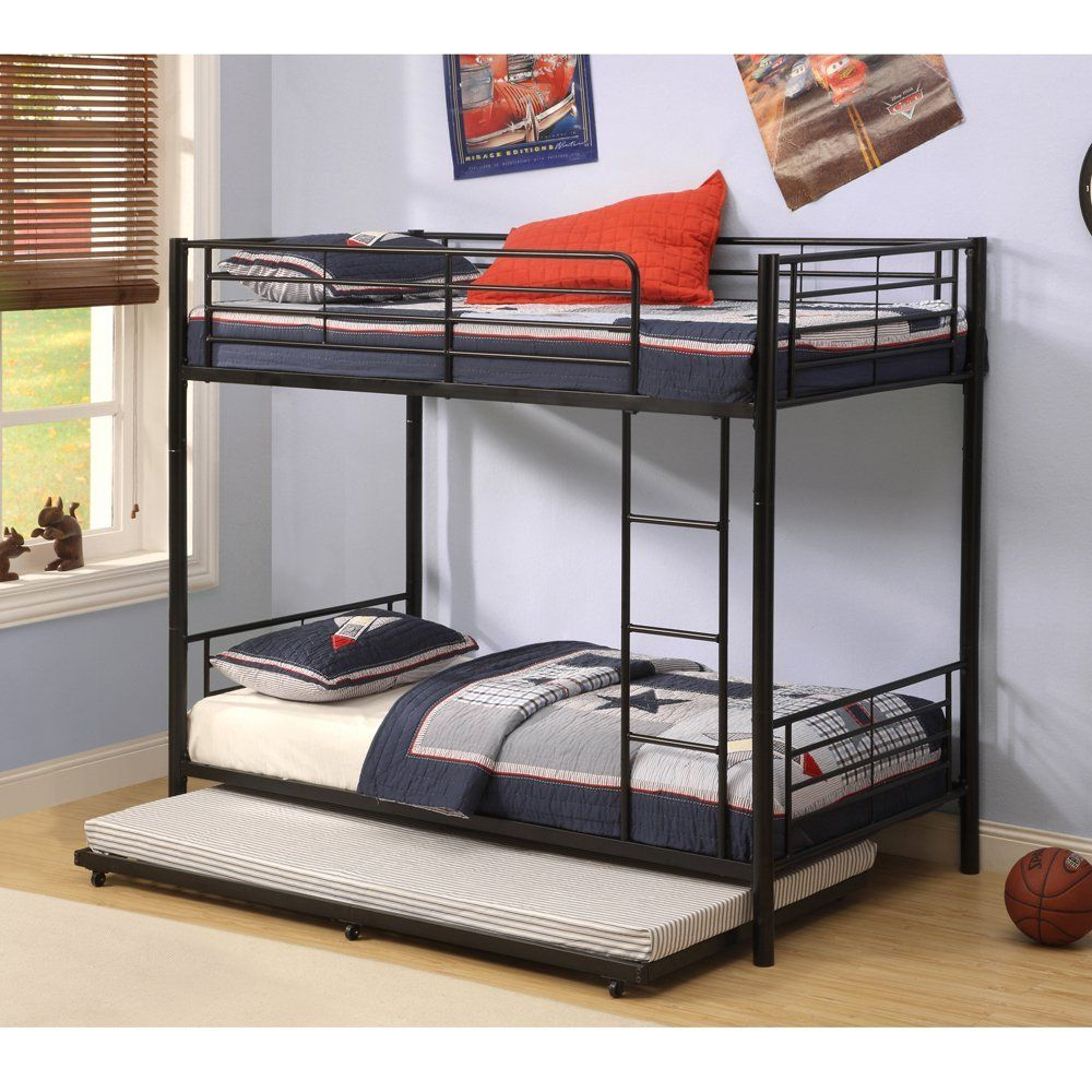 Amazon Com Walker Edison Twin Roll Out Trundle Bed Frame Black