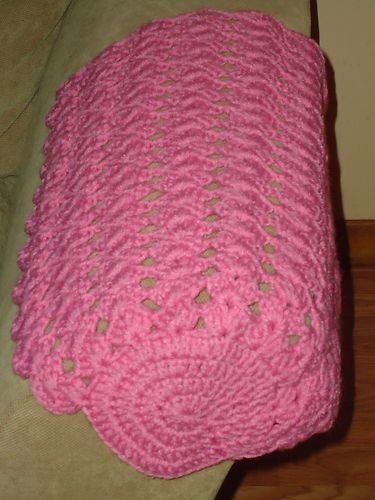 Pretty Pair Of Pink Hand Made Knitted Arm Chair Or Sofa