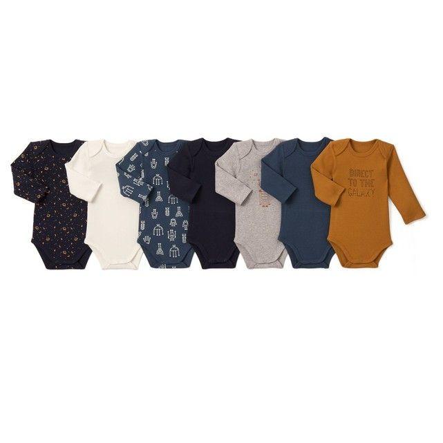 Lot de 7 bodies bébé en coton 0 mois - 3 ans La Redoute Collections 7cf40c979bb