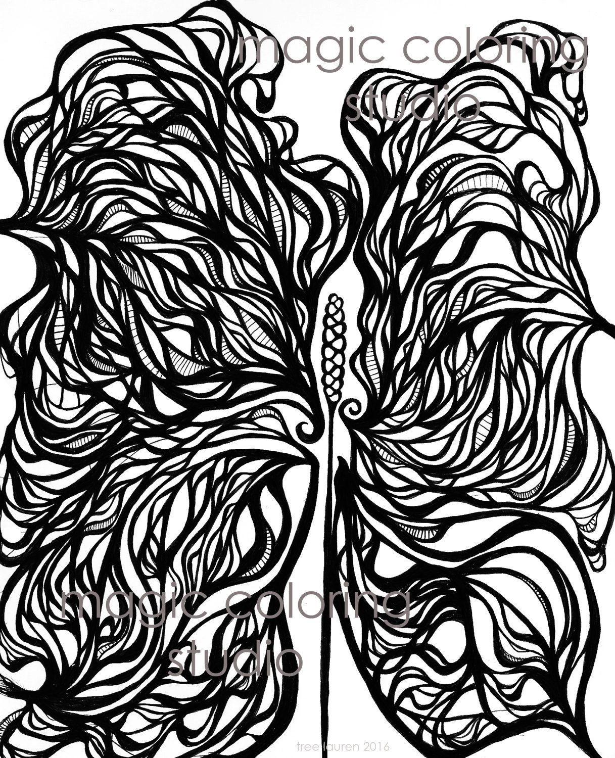 Magic maui ginger flower coloring page adult and children