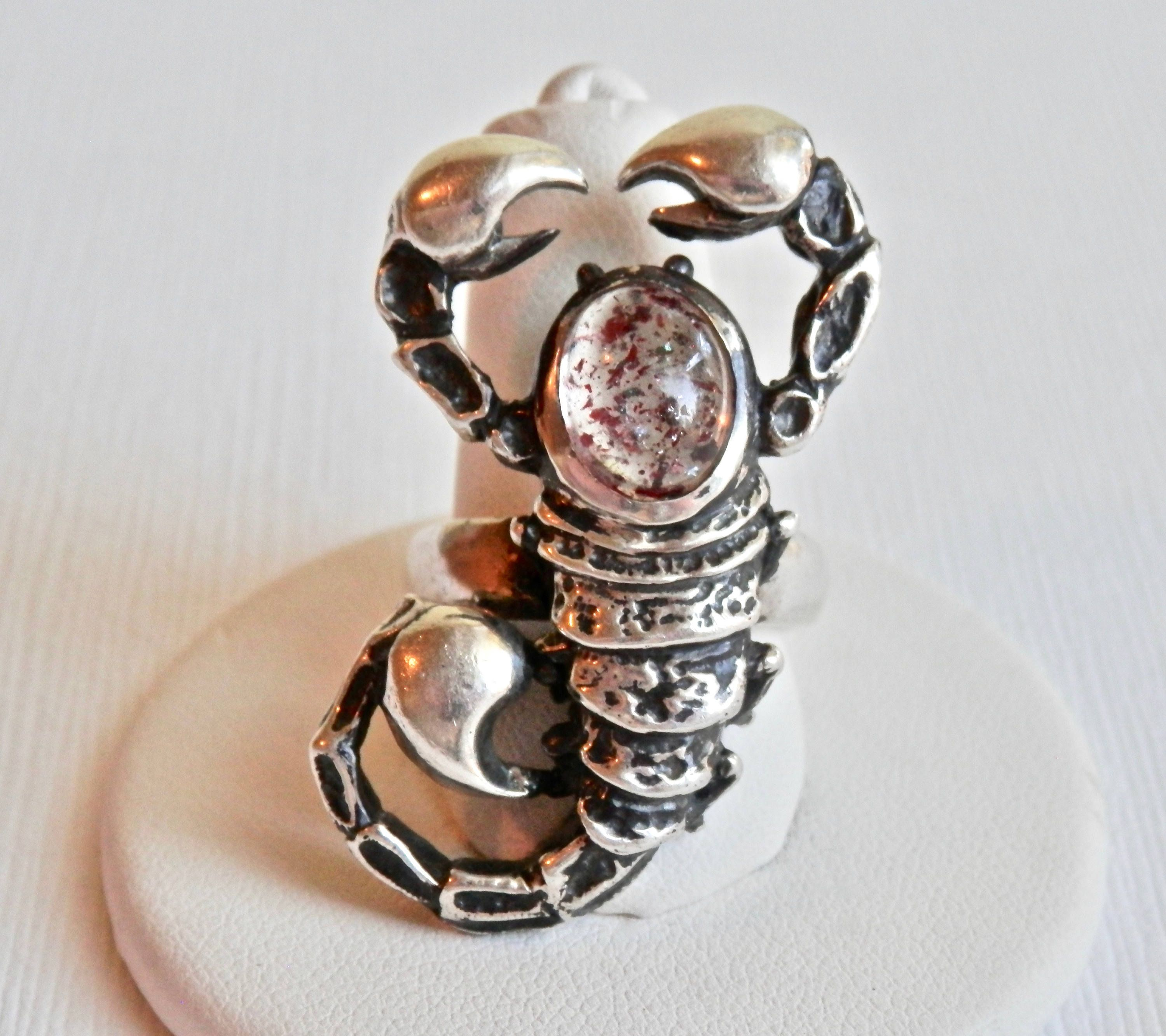 collections rose rock zodiac silver sterling n bellatrix ring rings scorpio