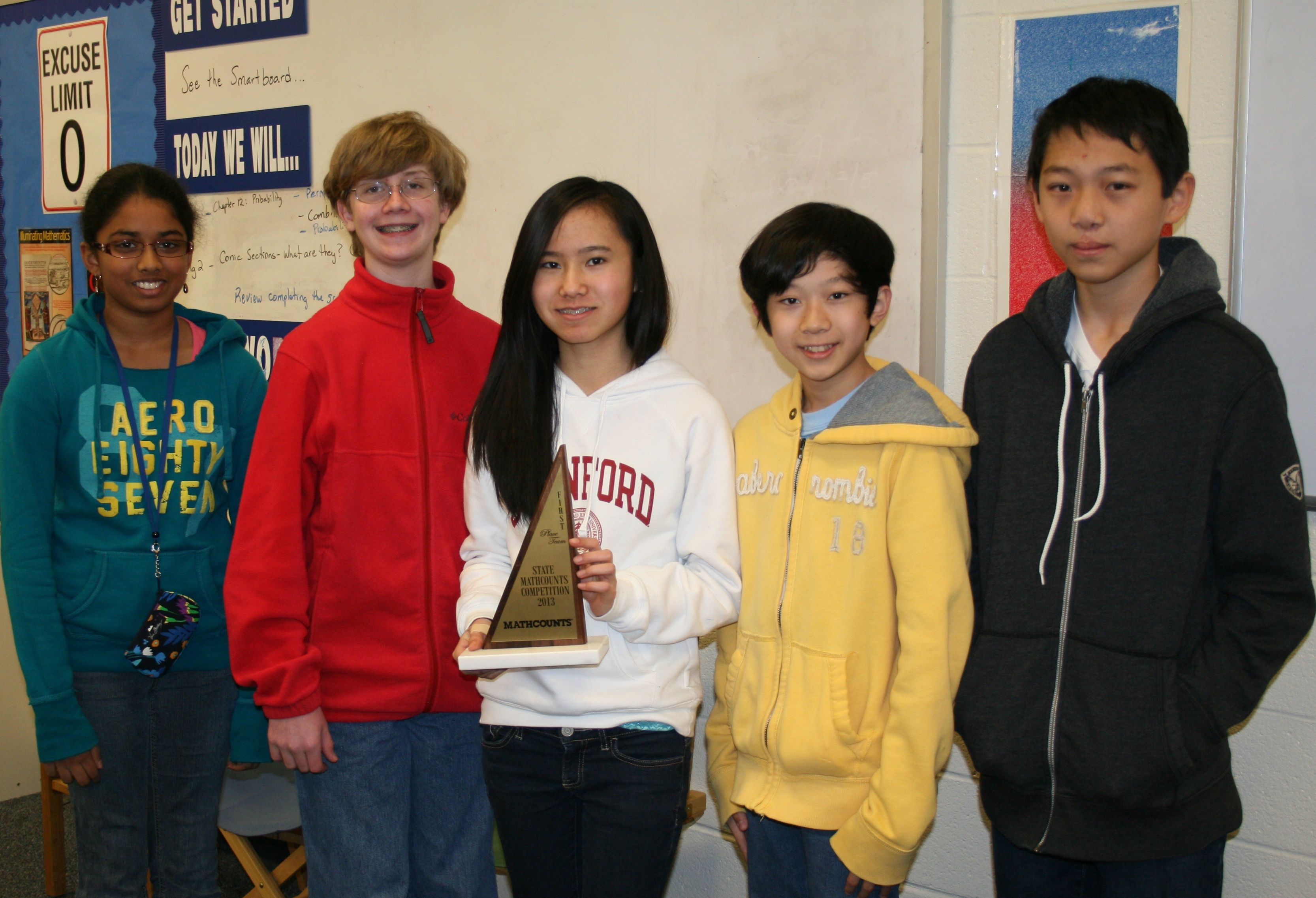 For the fifth straight year Dent Middle School s MATHCOUNTS team