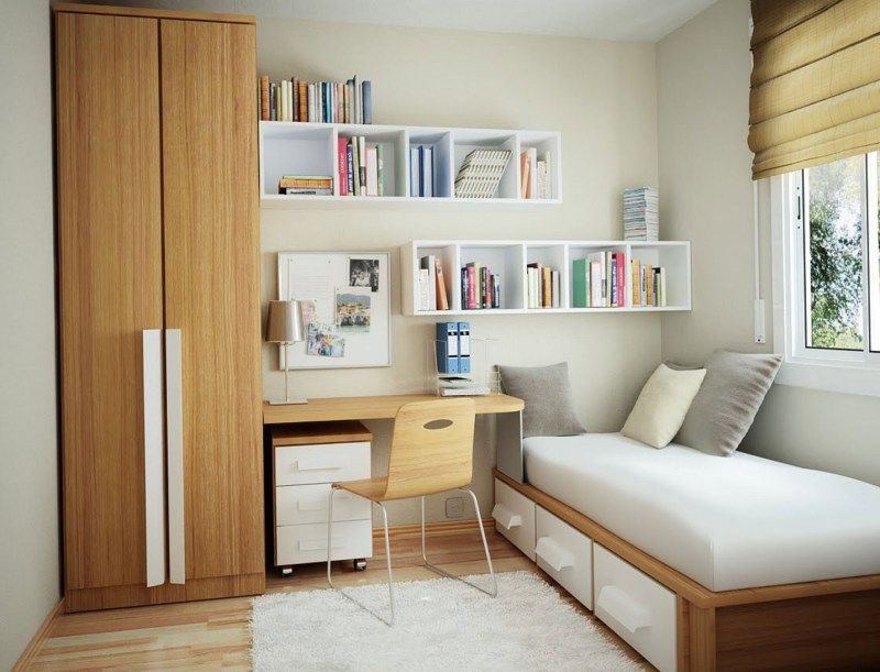 Small Bedroom Decorating Ideas For College Student Part - 15: Minimalist Soft Grey For Small Dorm Room Cool College Student Design Make  Yourself Comfortable With This