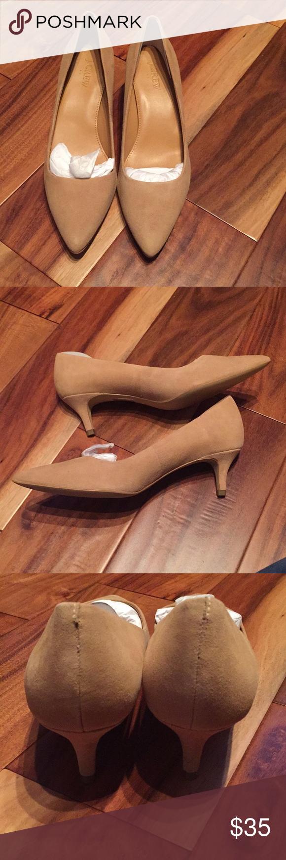 6d0351be9b9 J. Crew Factory Esme suede kitten heels Brand new