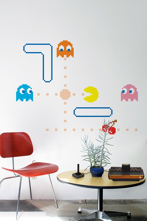Pacman Wall Art Office Wall Design Boys Game Room Home Decor Decals