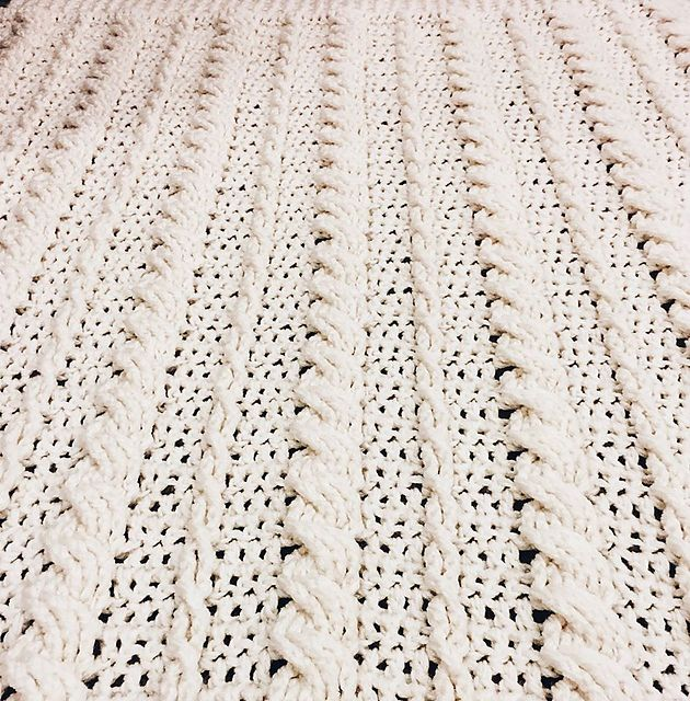 Free Pattern Fabulous Crochet Cabled Wedding Blanket Pinterest