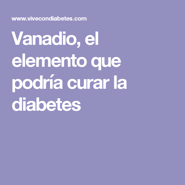 vanadio + diabetes
