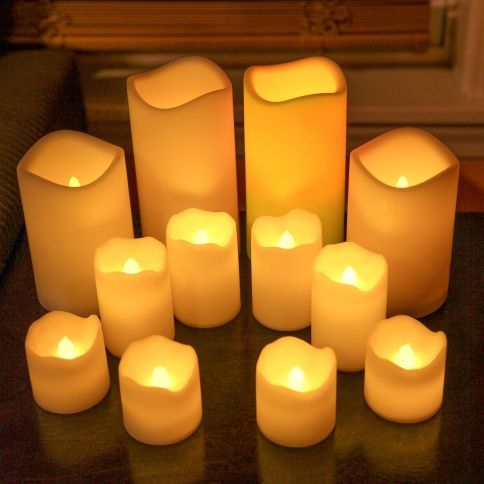 Outdoor Flameless Candles Delectable Lights  Flameless Candles  Battery Operated  Set Of 12 Design Inspiration