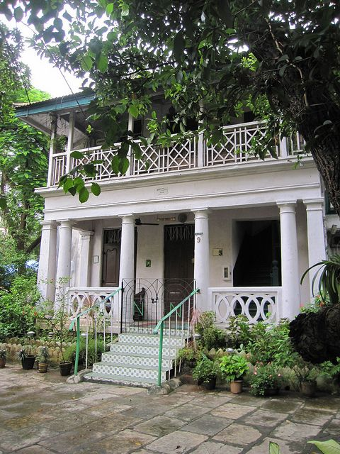 Original Portuguese Style East Indian Owned Bungalow Probably About 150 Years Old