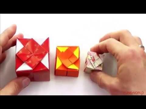 How To Make An Origami Cube Gift Box Intermediate Single Sheet