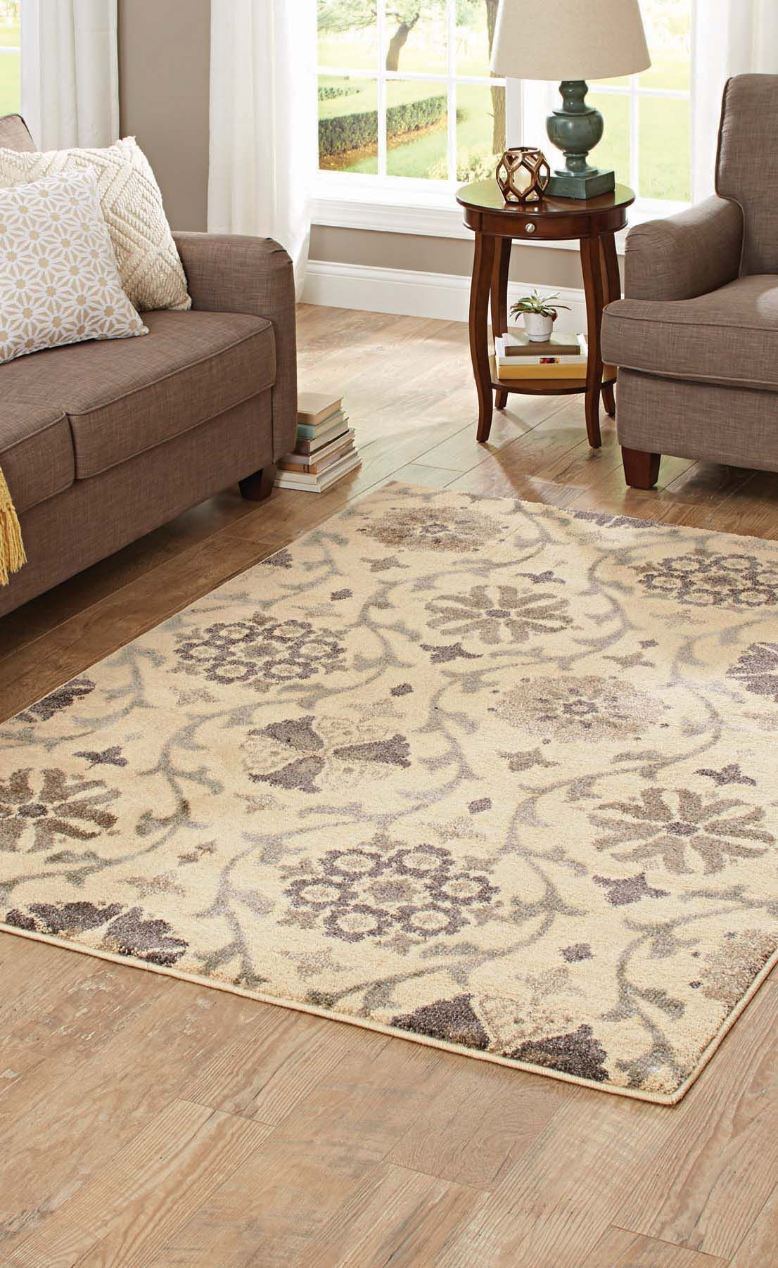 Better Homes And Gardens Cream Floral Vine Olefin Area Rug Home