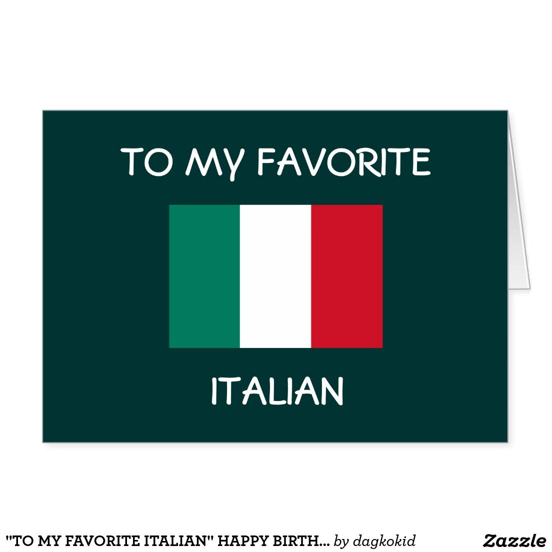 to my favorite italian happy birthday card Pinterest Happy