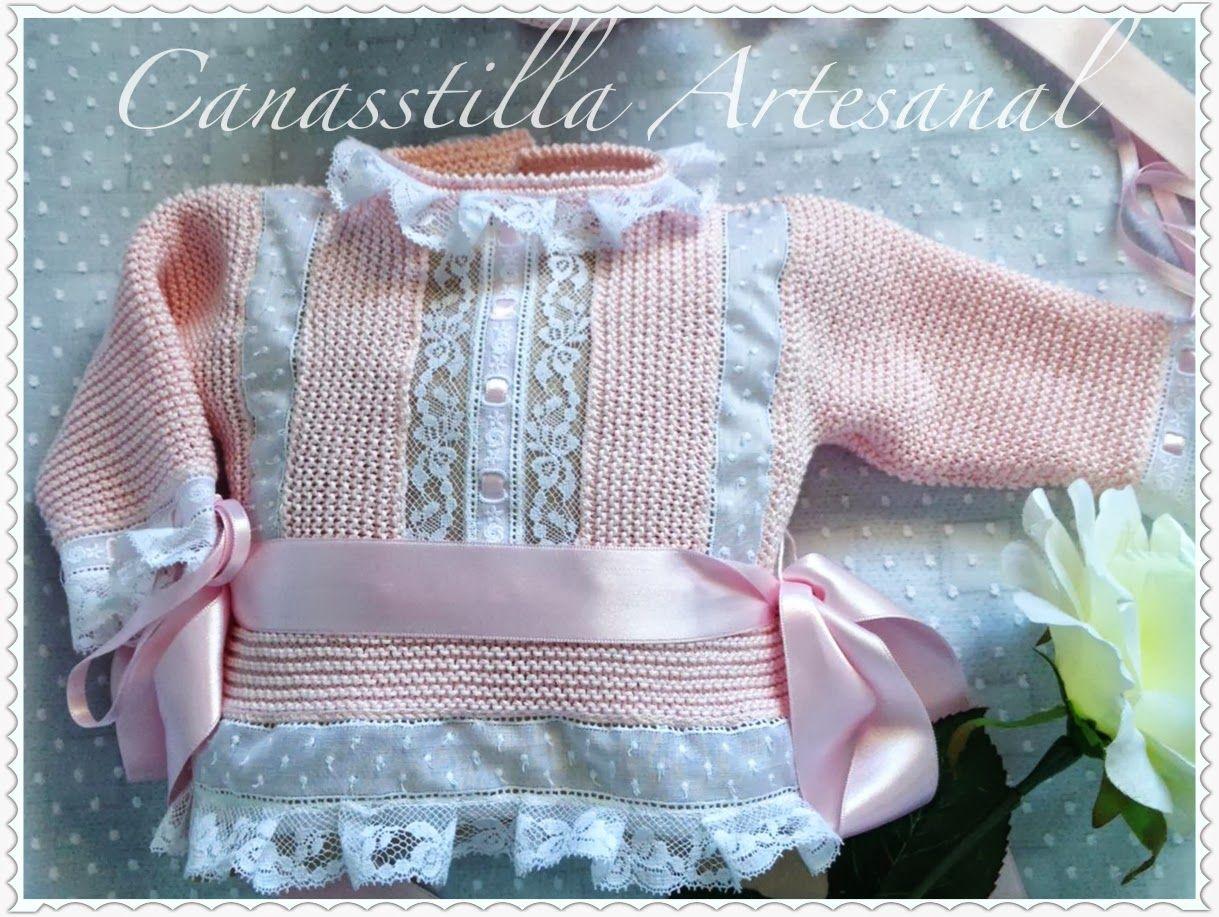 Canastilla artesanal catalogo de modelos bebes punto y - Canastilla artesanal bebe ...