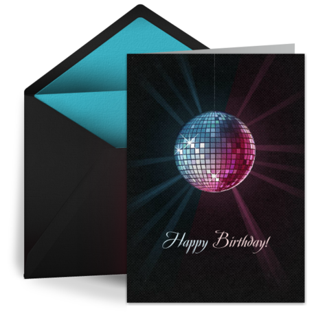 Birthday Disco Ball From Punchbowl E Cards Pinterest