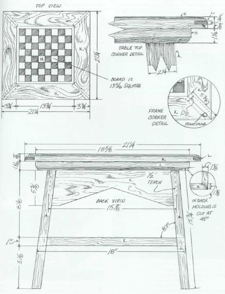Woodworking Plan For Chess Table Complete Woodworking Plans With Detail Descriptions Can Be Woodworking Projects Woodworking Basics Advanced Woodworking Plans