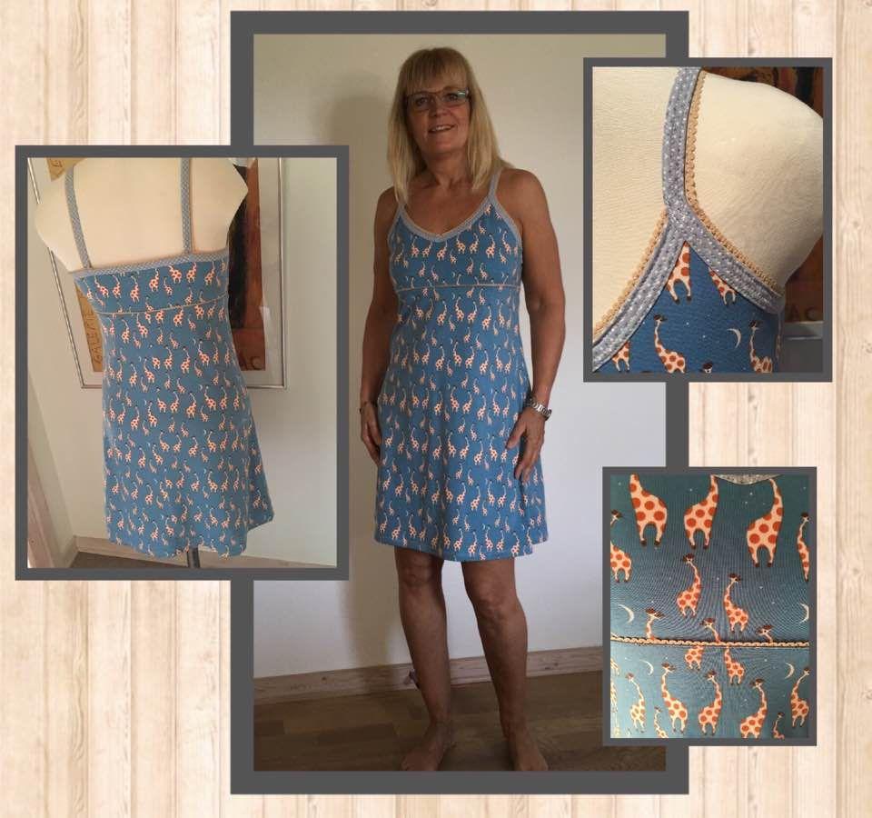 24bcbbcc Denne stropkjole er inspireret af en meget gammel esprit kjole jeg engang  havde. Dejlig at