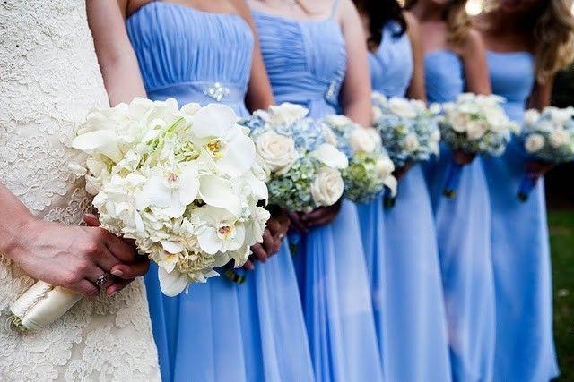 Flowers To Match Light Blue Dress