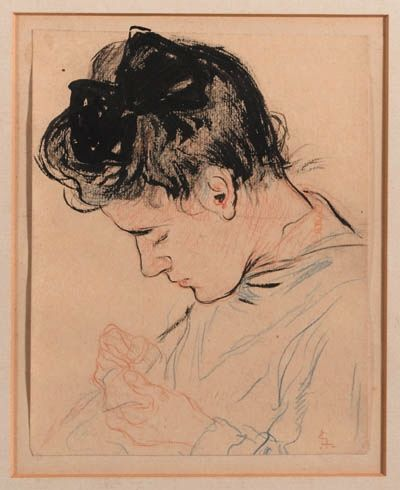 Leo Gestel - A portrait of the artist's sister, Antje