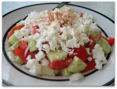 Shapska Salad - I ate this at every meal while in Bulgaria and still didn't get enough.  Delicious, healthy and simple