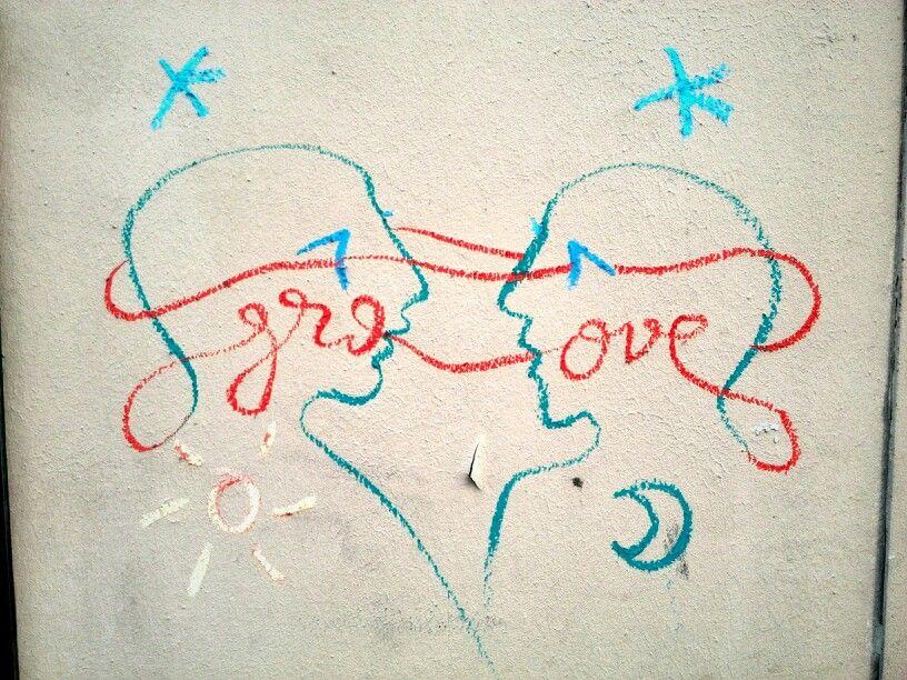 Groove - street art - paris 2, rue notre dame de la recouvrance (juil 2014)
