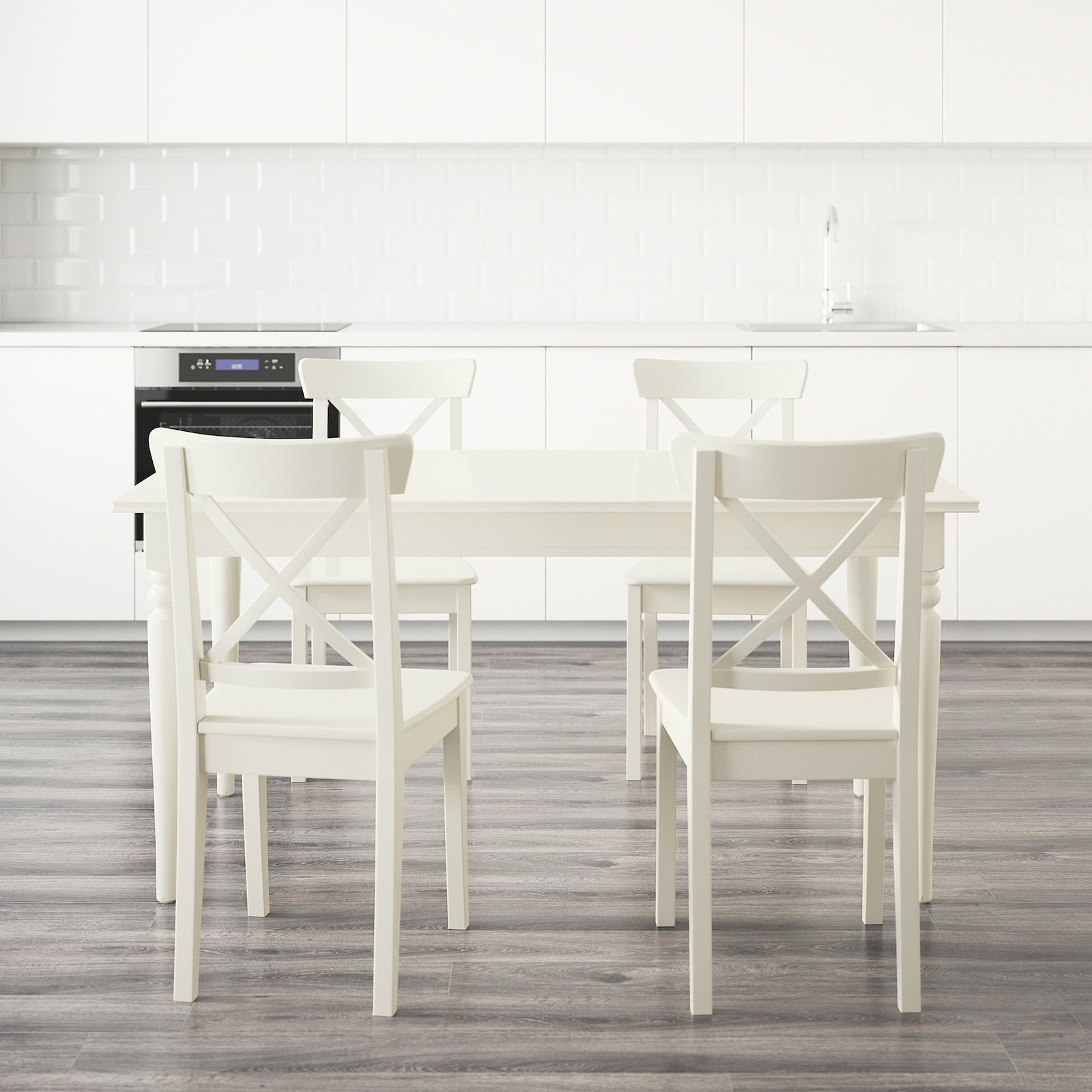 Ingatorp Ingolf Table And 4 Chairs White Ikea In 2020 Compact Table And Chairs Dining Room Table Chairs Ikea