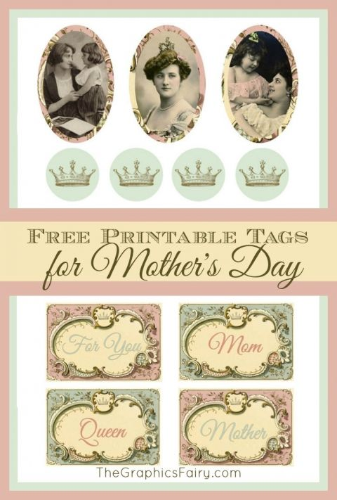 Mother's Day Gift Tags | The Graphics Fairy