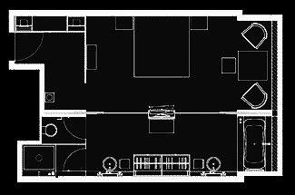 The Puli Deluxe Room Floorplan Hotel Plan Hotel Room Plan Floor Plans