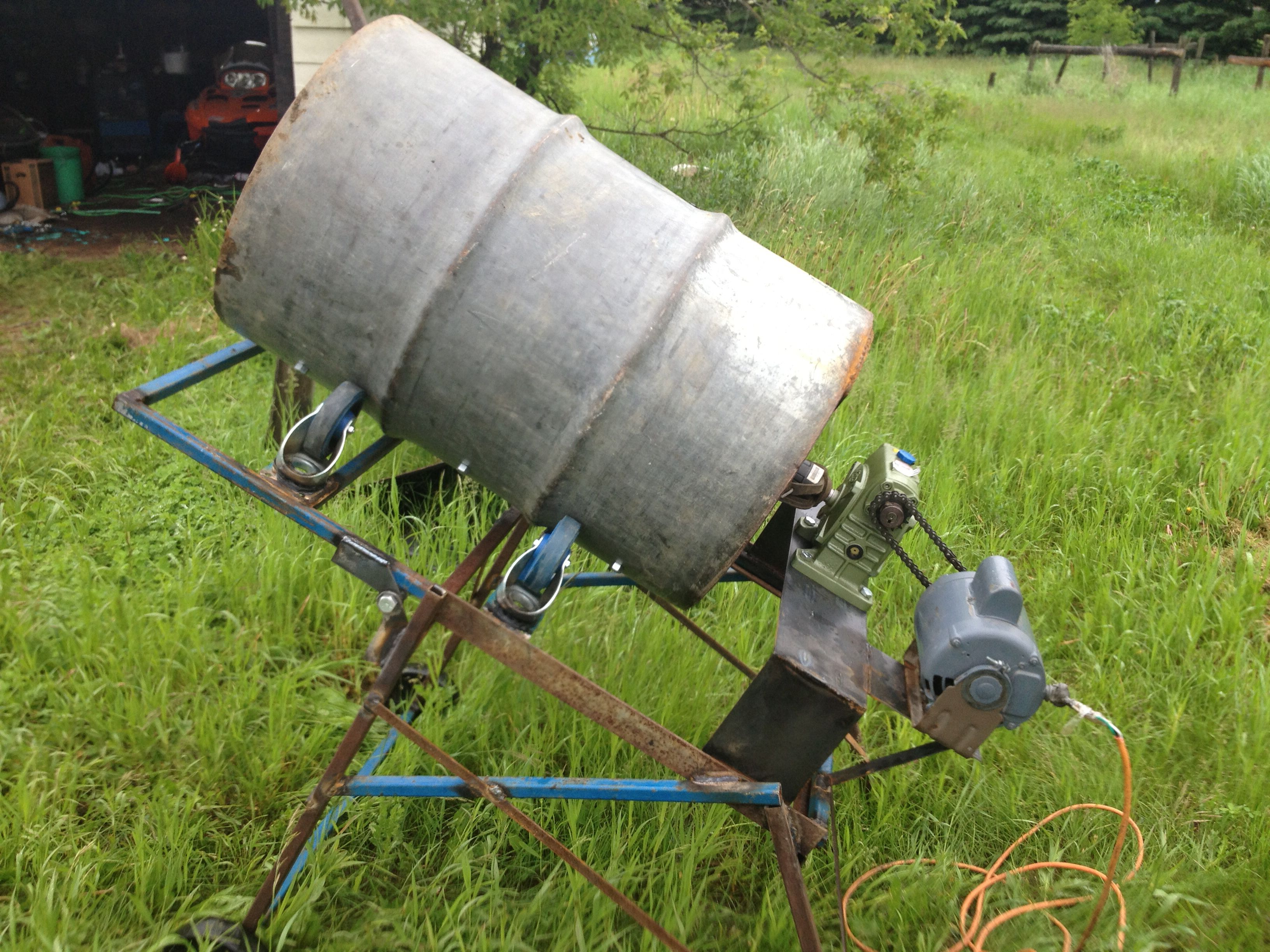 Home Made Cement Mixer Cement Mixers Concrete Mixers Homemade Tools