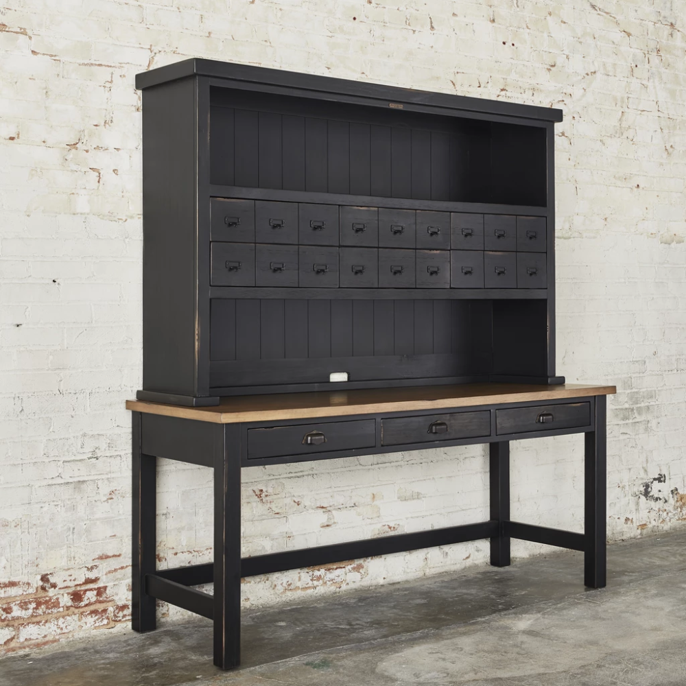Postman's Desk Magnolia Desk with drawers, Industrial
