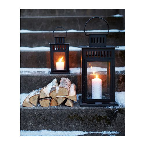IKEA BORRBY lantern for block candle Suitable for both indoor and