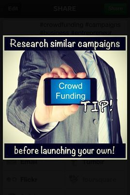 CROWD-FUNDING TIP: #Research similar #campaigns before launching your own! • #crowdfunding #business #entrepreneur #How2InjectCashIntoURbusiness #AskMeHow #LEG