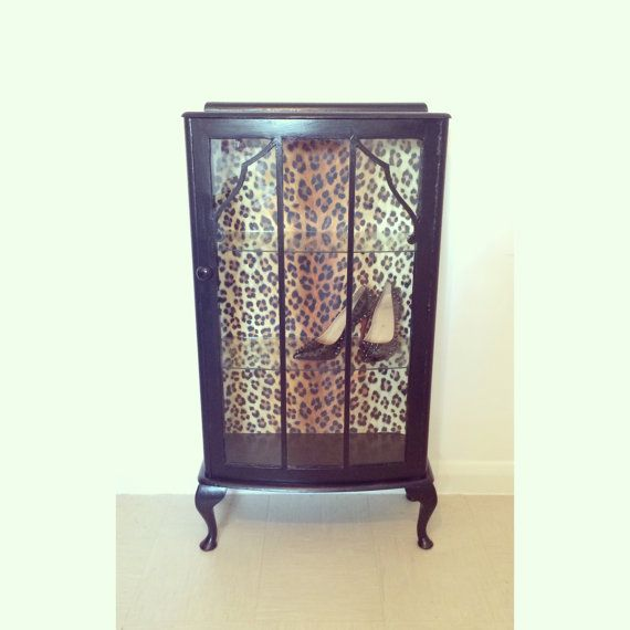 Upcycled 1950's vintage glass display cabinet by MuckNBrassLondon ...