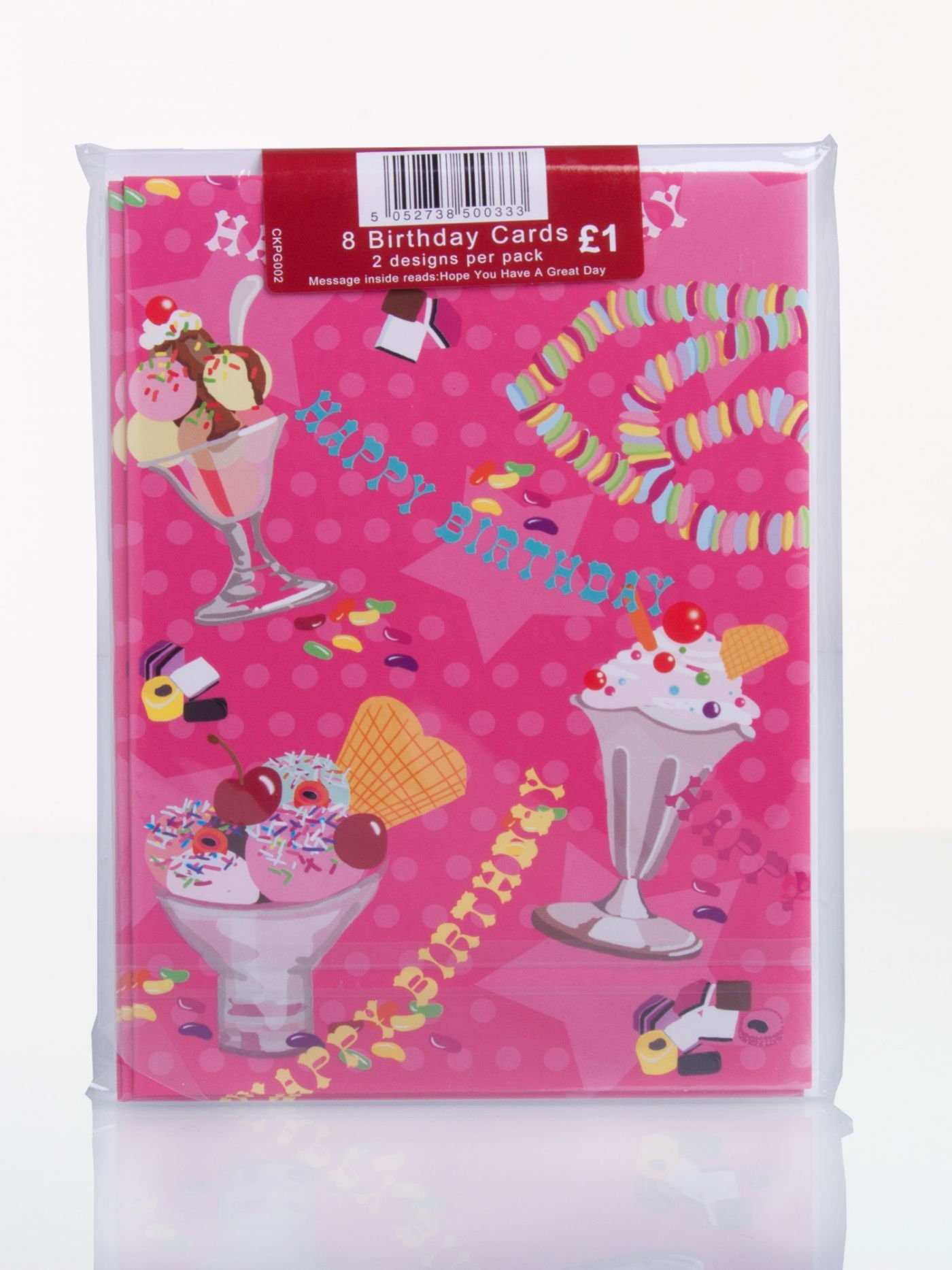 Clintons collection pack of 8 ice creams and cakes birthday cards clintons collection pack of 8 ice creams and cakes birthday cards general birthday birthday m4hsunfo