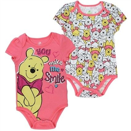 2-SET WINNIE THE POOH PIGLET /& MINNIE Creeper Baby Girl Disney Pink Clothing NEW