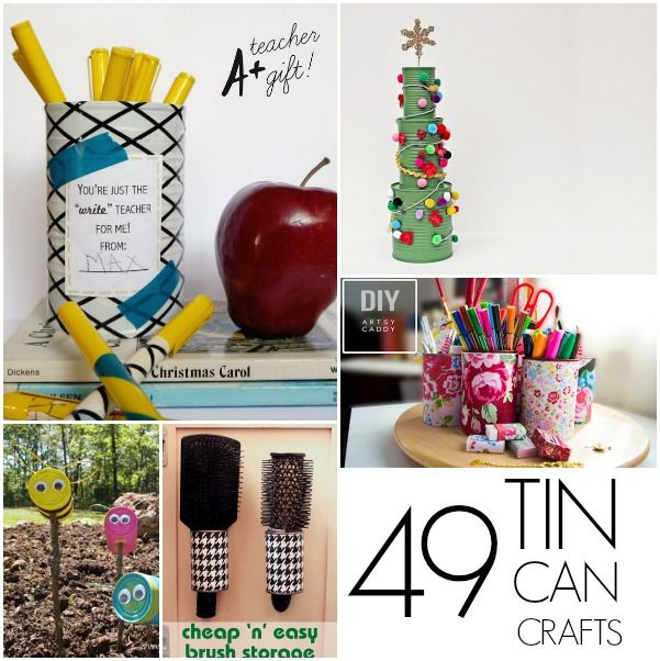 49 tin can crafts craft crafty and reuse for Large tin can crafts