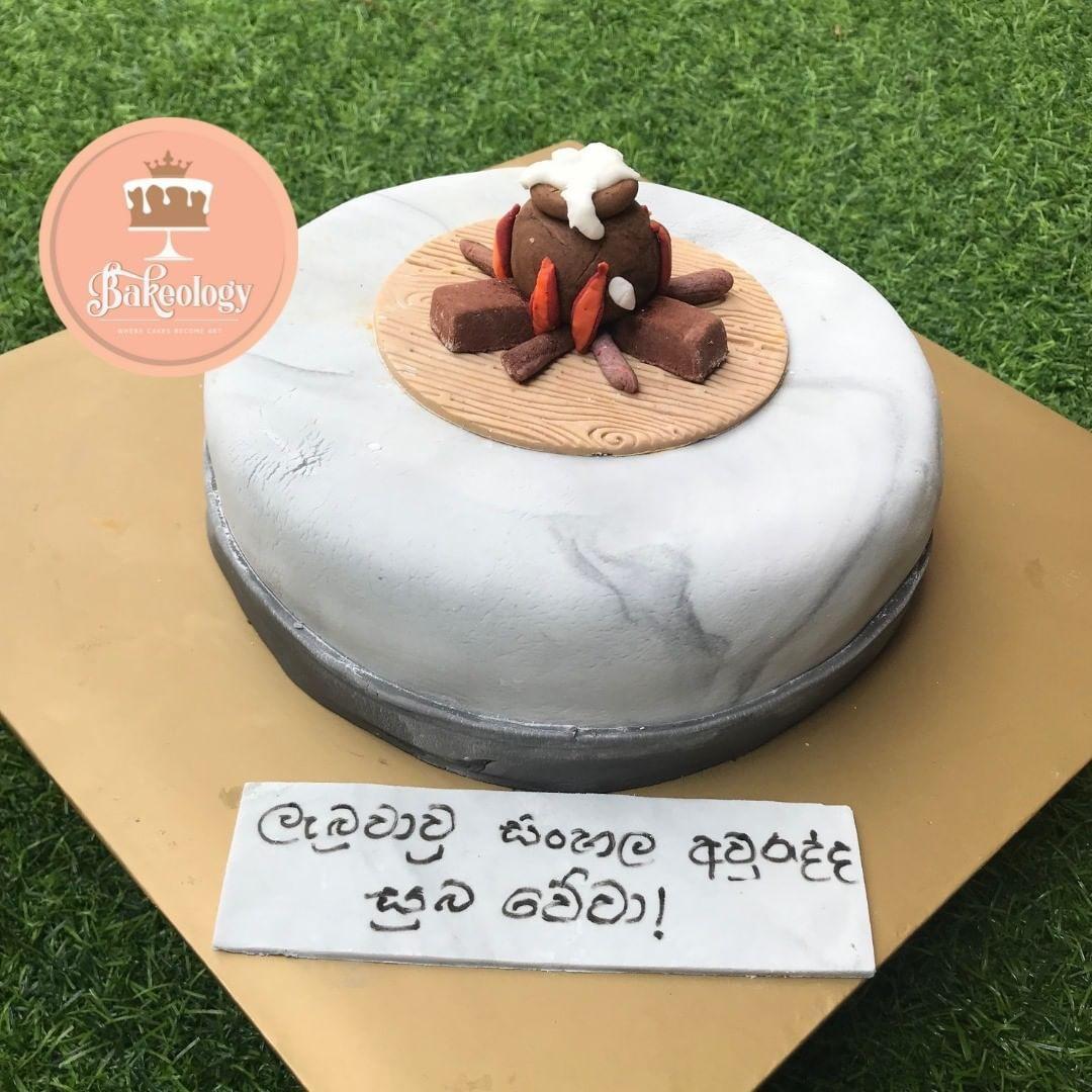 Bakeology By Lasa On Instagram Sinhala And Tamil New Year Cake Sinhalaandtamilnewyearcake Cake Birthday Cakes New Year S Cake Cake Cake Decorating
