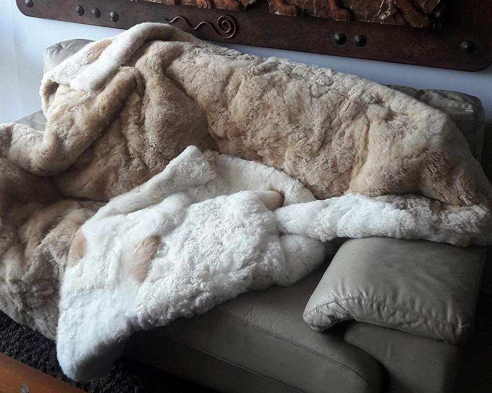 Cashmere Tagesdecke.Beidseitige Peruanische Suri Alpakafell Decke Tagesdecke