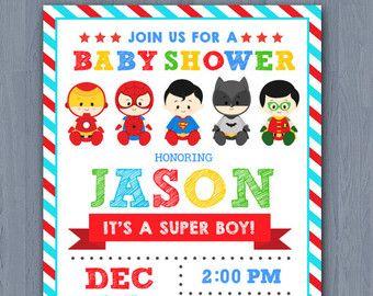 Superior SUPERHERO BABY SHOWER Invitation Superhero By MaoPartyPrintables