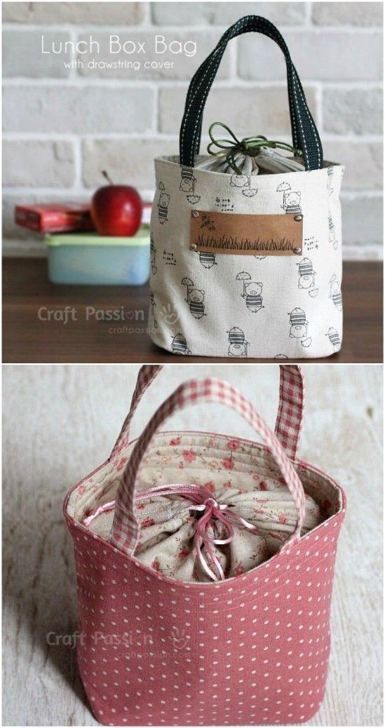 10 einfach zu nähen DIY Lunch-Taschen und Beutel für Kinder und Erwachsene – Boda fotos